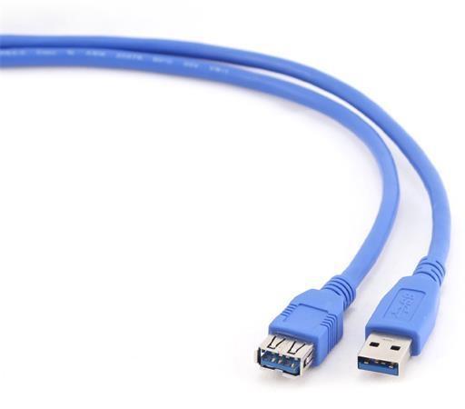 Kabel USB A-A 1,8m USB 3.0 prodlužovací, modrý CCP-USB3-AMAF-6