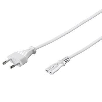 Kabel síťový 230V k magnetofonu 3m bílý