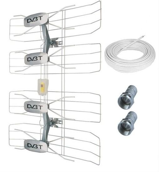 Solight venkovní DVB-T anténa HN50, 42-47 dB, VHF/UHF, 6. - 69. kanál