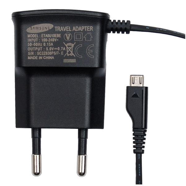Nabíječka Samsung ETA0U10E s micro-USB konektorem, černá, 5V/700mA ETA0U10EBECSTD