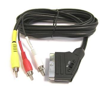Kabel scart - 3x cinch s přepínačem - 1.5 m DPM eco 8592220004484