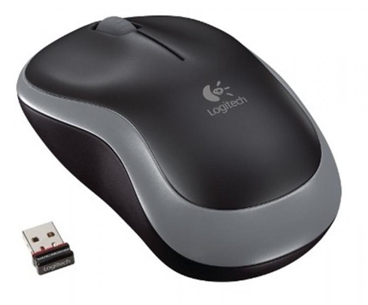 myš Logitech Wireless Mouse M185 nano, šedá 910-002238