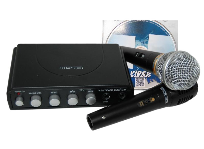 Karaoke velká sada + ZDARMA DVD + KOVOVÝ MIKROFON