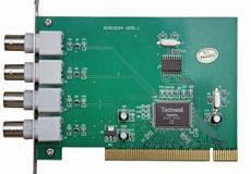 CARD-4CH kamerový systém pro PC (videokarta pro 4 kamery + software)
