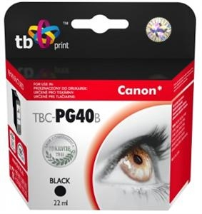 Černá inkoustová kazeta TB kompatibilní s Canon PG-40 Black - Alternativní TBC-PG40B