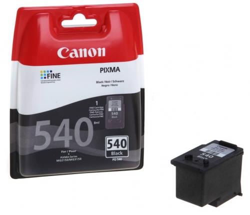 Černá inkoustová kazeta Canon PG-540BK - Originální 5225B005