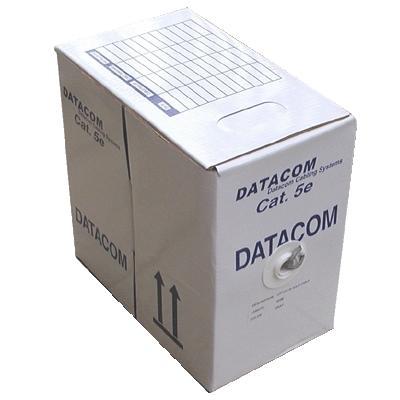 DATACOM UTP Cat5e PVC kabel 305m (drát), šedý HSEKU424PG