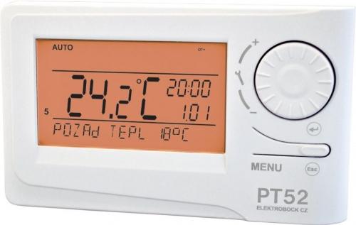 Inteligentní termostat ELEKTROBOCK PT52 s OpenTherm komunikací