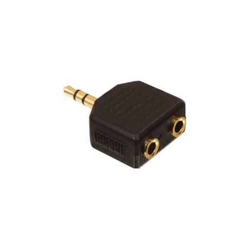 Stereo Audio Adaptér 3.5mm Zástrčka - 2x 3.5mm Zásuvka Černá