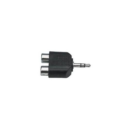 Stereo Audio Adaptér 3.5mm Zástrčka - 2x CINCH Zásuvka Černá