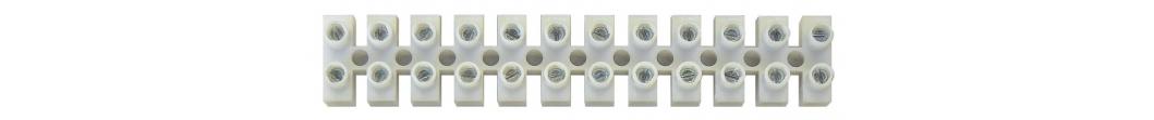 Svorkovnice 12x4,0 mm bílá, 1 ks