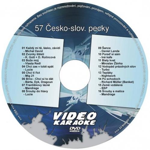 KARAOKE ZÁBAVA: Karaoke DVD 57 Česko-slovenské pecky