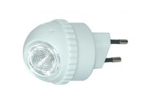 Solight noční LED světélko, světelný senzor, plug-in, bílé, vypínač senzoru