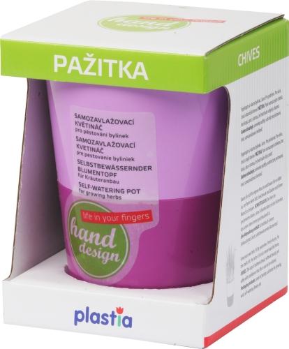 Květináč na bylinky Rosmarin Pažitka - 11 cm fialková světlá + tmavá