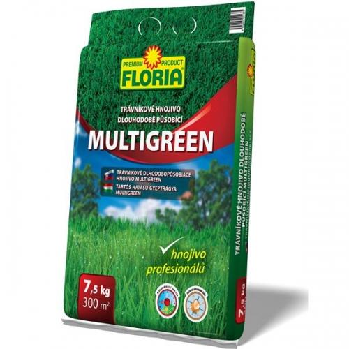 FLORIA Dlouhopůsobící trávníkové hnojivo Multigreen 7,5 kg