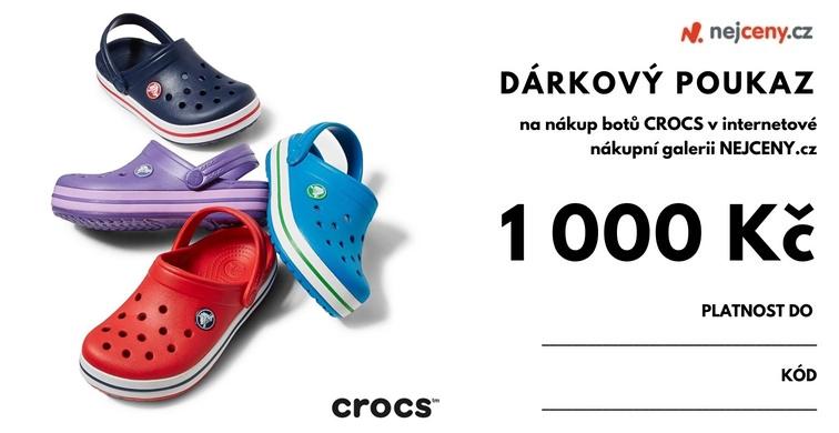 Dárkový kupón na boty Crocs NEJCENY - 1000Kč