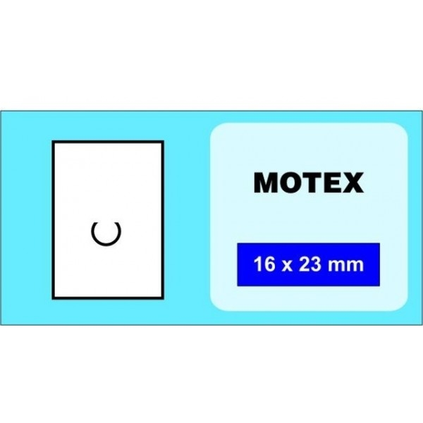 Etikety MOTEX 16x23 bílé