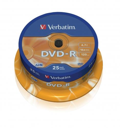 DVD-R Verbatim 4,7 GB 16x 25-cake 43522