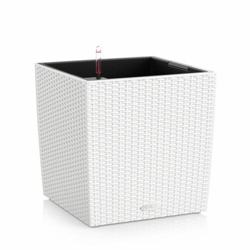 Květináč Lechuza Cube Cottage - Bílá, rozměr 50