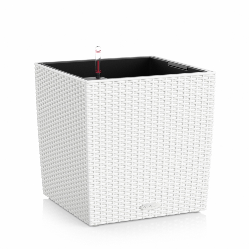 Květináč Lechuza Cube Cottage - Bílá, rozměr 40