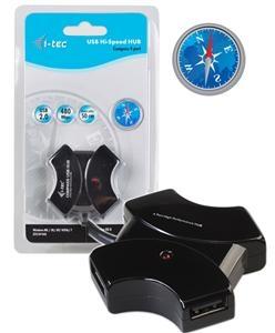 i-tec COMPASS USB 2.0 Hub 4-Port +extra kabel 50cm USB2HUB