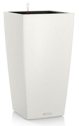 Květináč Lechuza Cubico Color - Bílá, rozměr 22