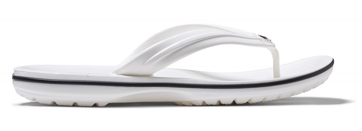 Crocs Crocband Flip - White, M9/W11 (42-43)