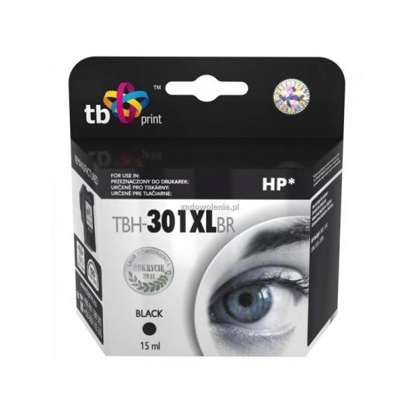 Černá inkoustová kazeta HP 301XL (HP301XL, HP-301XL, CH563EE), 15ml TB - Alternativní TBH-301XLBR