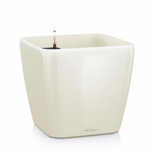 Květináč Lechuza Quadro - Bílá, rozměr 35