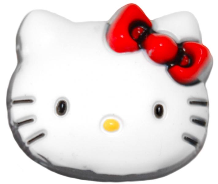 Jibbitz odznáček na obuv Crocs Hello Kitty Face