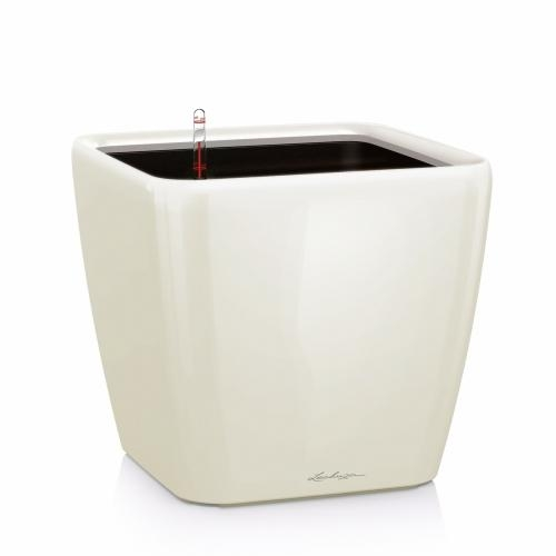 Květináč Lechuza Quadro LS - Bílá, rozměr 35