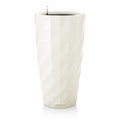 Květináč Lechuza Diamante - Bílá, rozměr 40