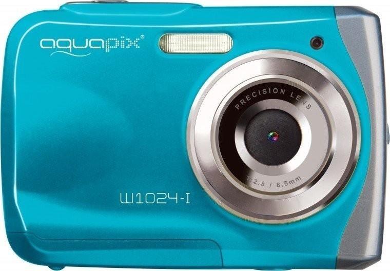 Digitální fotoaparát EasyPix W1024 Splash, vodotěsný 3 m, CMOS 10 Mpx - turquoise 10012