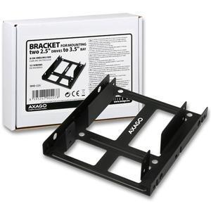 """AXAGO redukce pro 2x 2.5"""" HDD do 3.5"""" pozice RHD-225"""