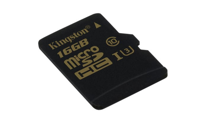 KINGSTON 16GB microSDHC Class U3 UHS-I 90R / 45W Single Pack bez adapteru SDCG/16GBSP