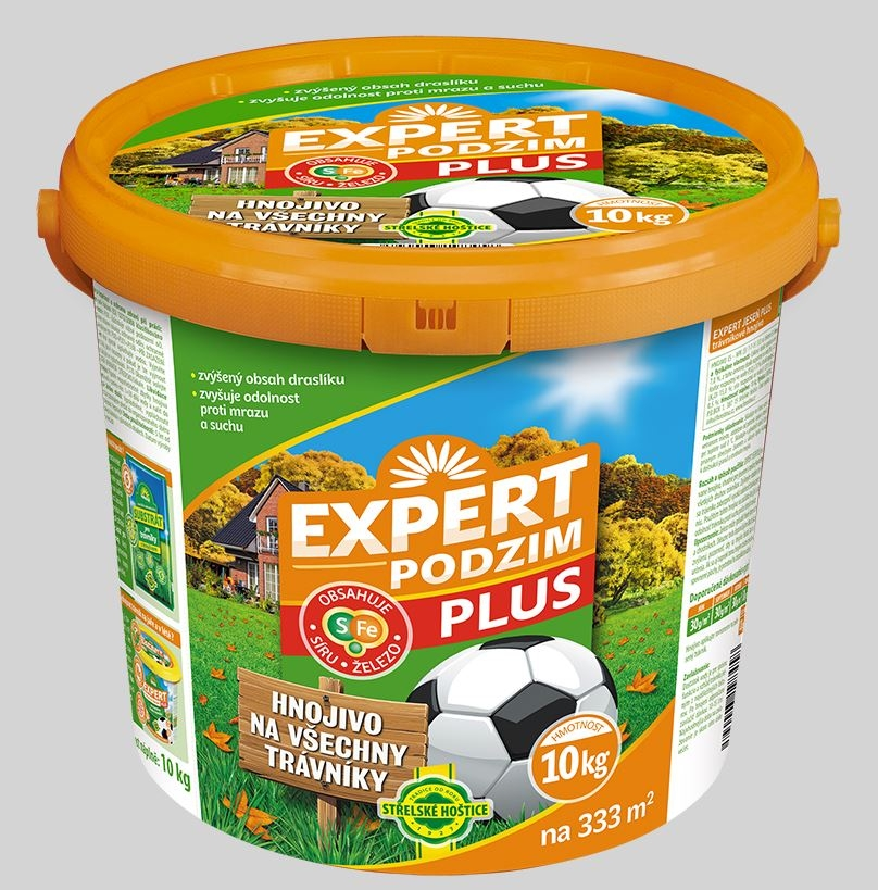 Hnojivo na trávník Expert podzim plus 10kg kbelík