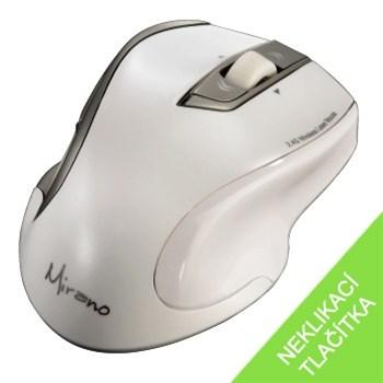 Mirano bezdrátová laserová myš, bílá