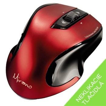Hama Mirano bezdrátová laserová myš, červeno-černá, tichá