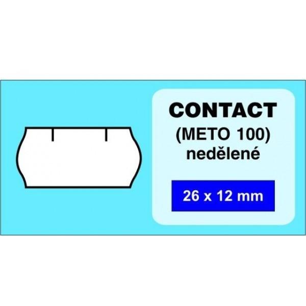 Etikety CONTACT 26x12 bílé