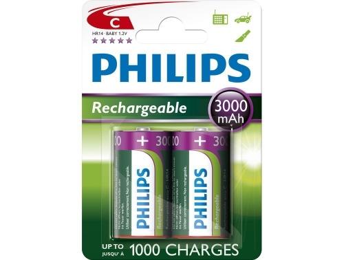 Nabíjecí baterie Philips MultiLife C 3000 mAh, 2ks