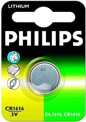 Knoflíkové baterie Philips Lithium CR1616 3V, 1ks