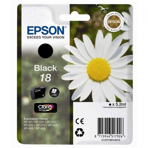 Černá inkoustová kazeta EPSON T1801 pro Expression Home XP-102/XP-205/XP-405 - Originální C13T1