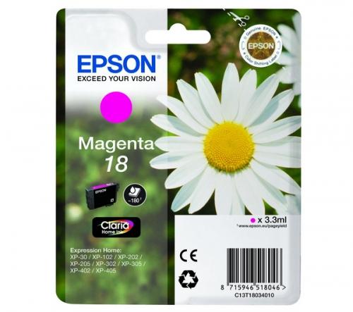 Purpurová inkoustová kazeta EPSON T1803 pro Expression Home XP-102/XP-205/XP-405 - Originální C13T18034010