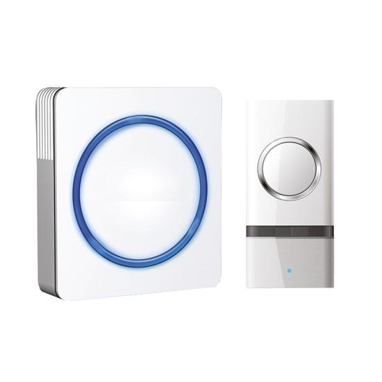 Solight bezdrátový zvonek, do zásuvky, 120m - White
