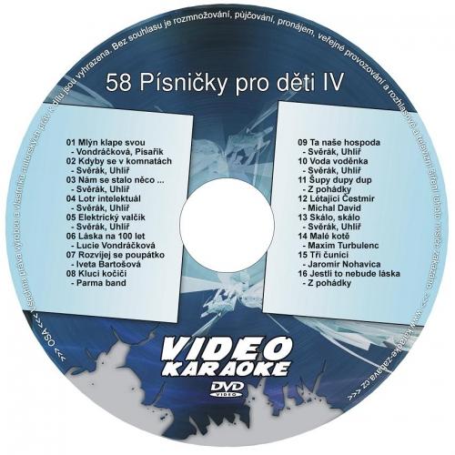 KARAOKE ZÁBAVA: Karaoke DVD 58 Písničky pro děti IV
