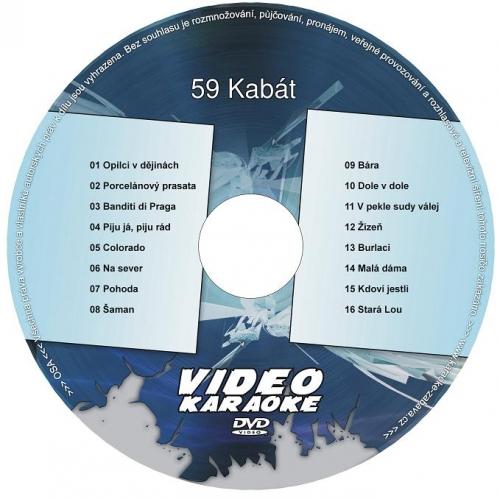 KARAOKE ZÁBAVA: Karaoke DVD 59 Kabát