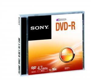 Média DVD-R SONY DMR-47; 4.7GB; 16x; 1ks DMR47SJ