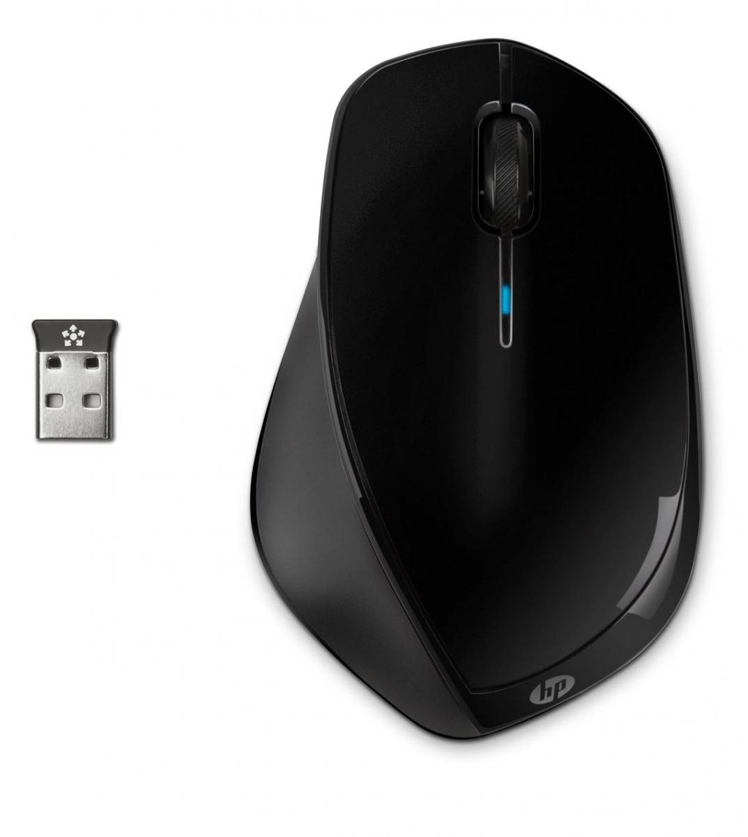 HP x4500 Wireless Mouse- Sparkling Black H2W26AA#ABB