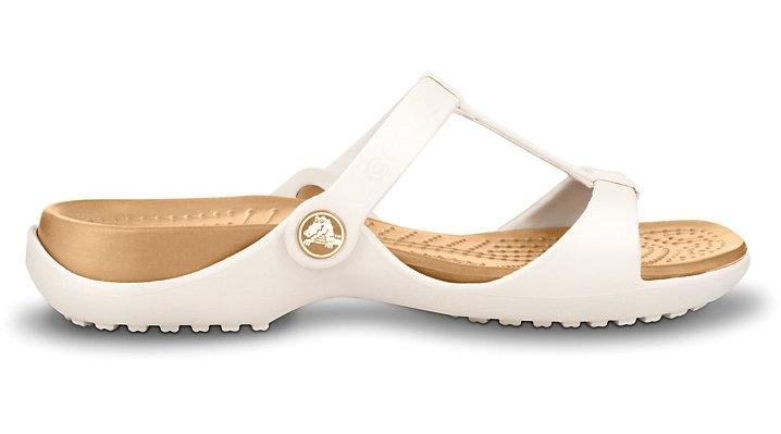 Crocs Cleo III - Oyster/Gold, W7 (37-38)