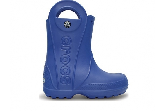 Crocs Handle It Rain Boot Kids - Sea Blue, J3 (34-35)